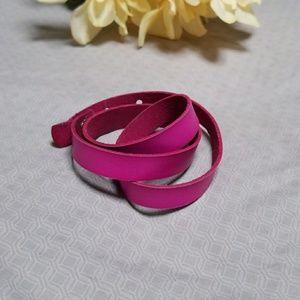 Jewelry - Pink faux leather wrap bracelet
